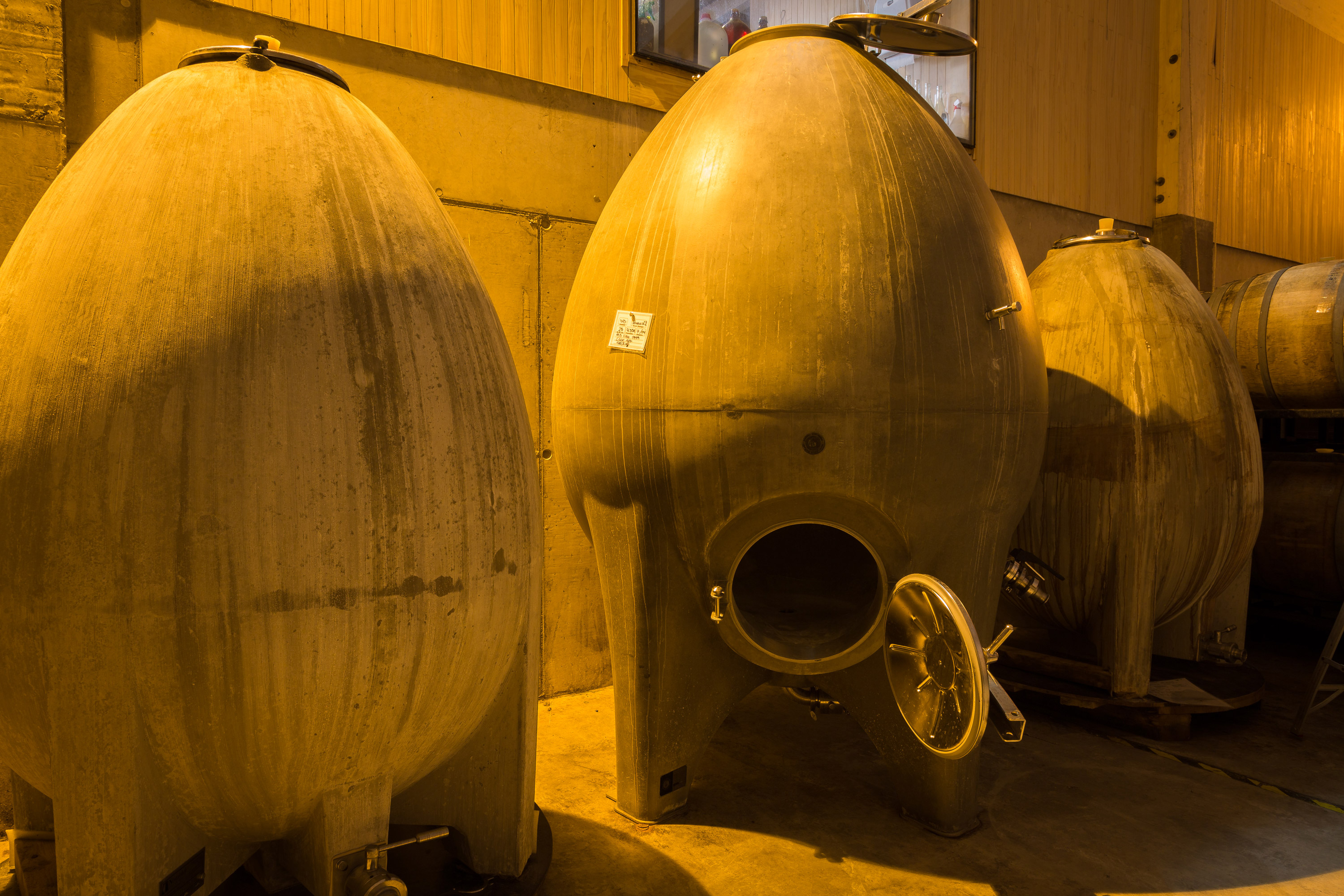 The concrete eggs at Kingston Family Vineyards