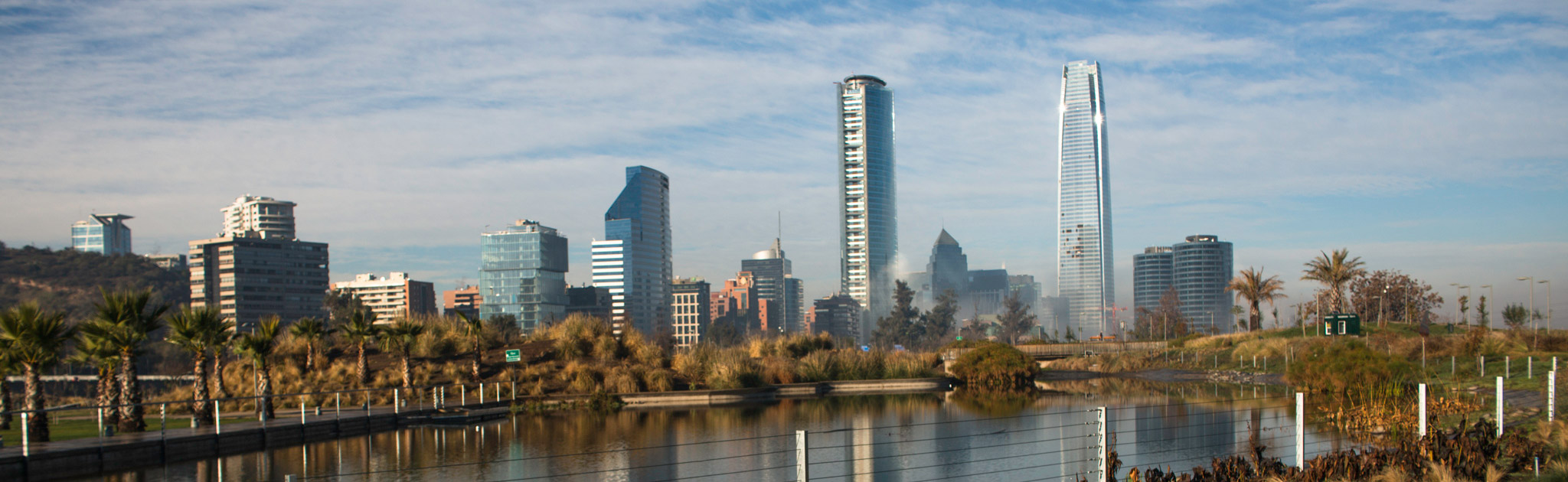 A view of Santiago from Parque Bicentenario