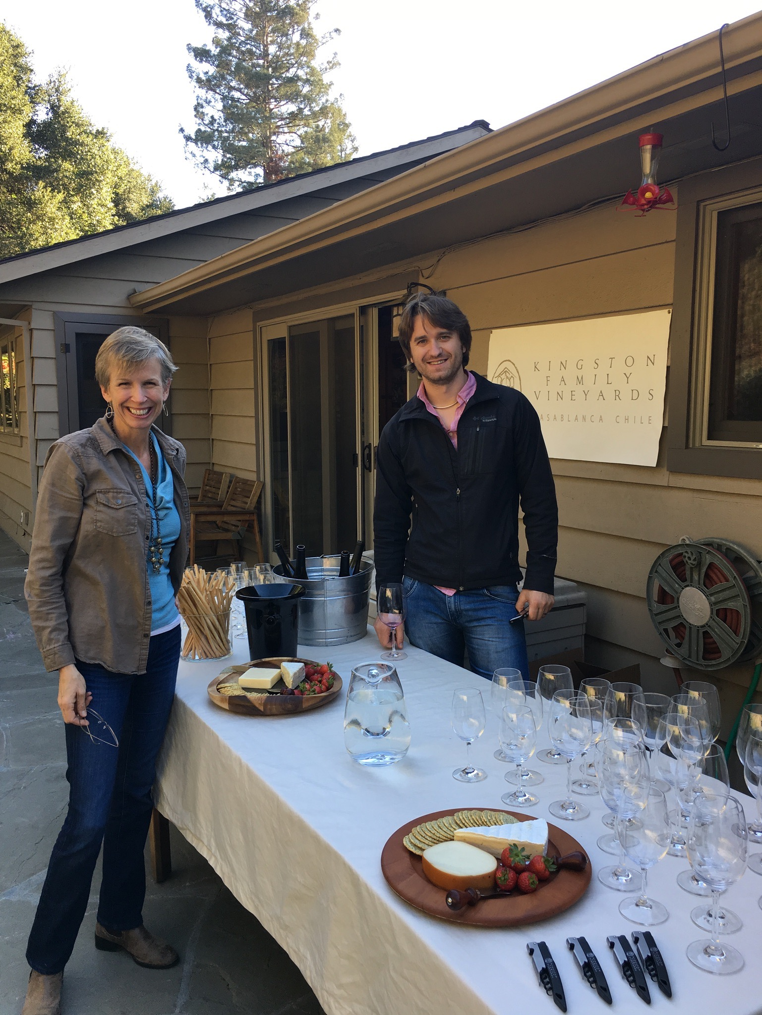 Amael with Courtney at last week's Old Corral Club tasting in Portola Valley