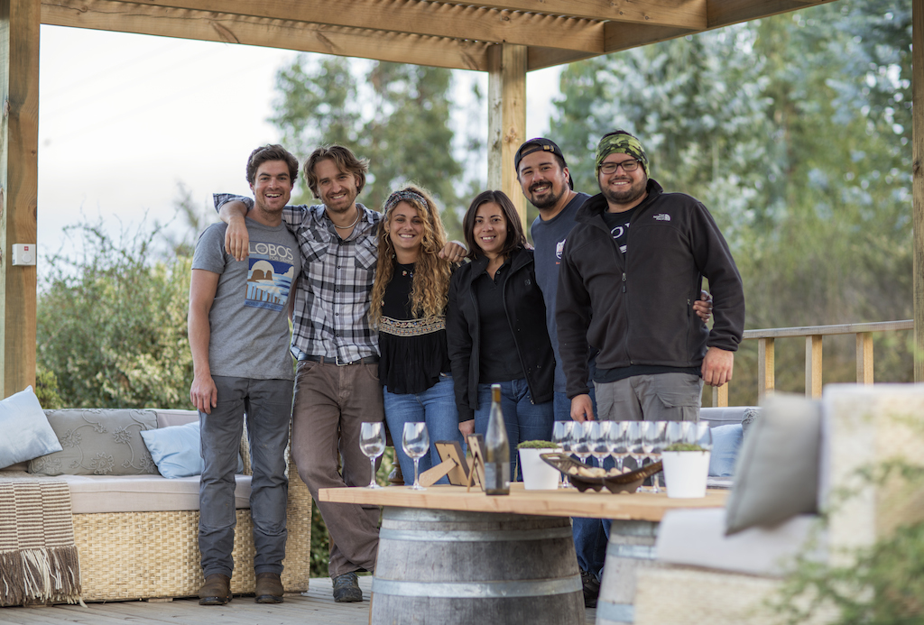 Amael and his team on the terraza. From left to right, Kevin, Amael, Estela, Pilar, Daniel and Manuel