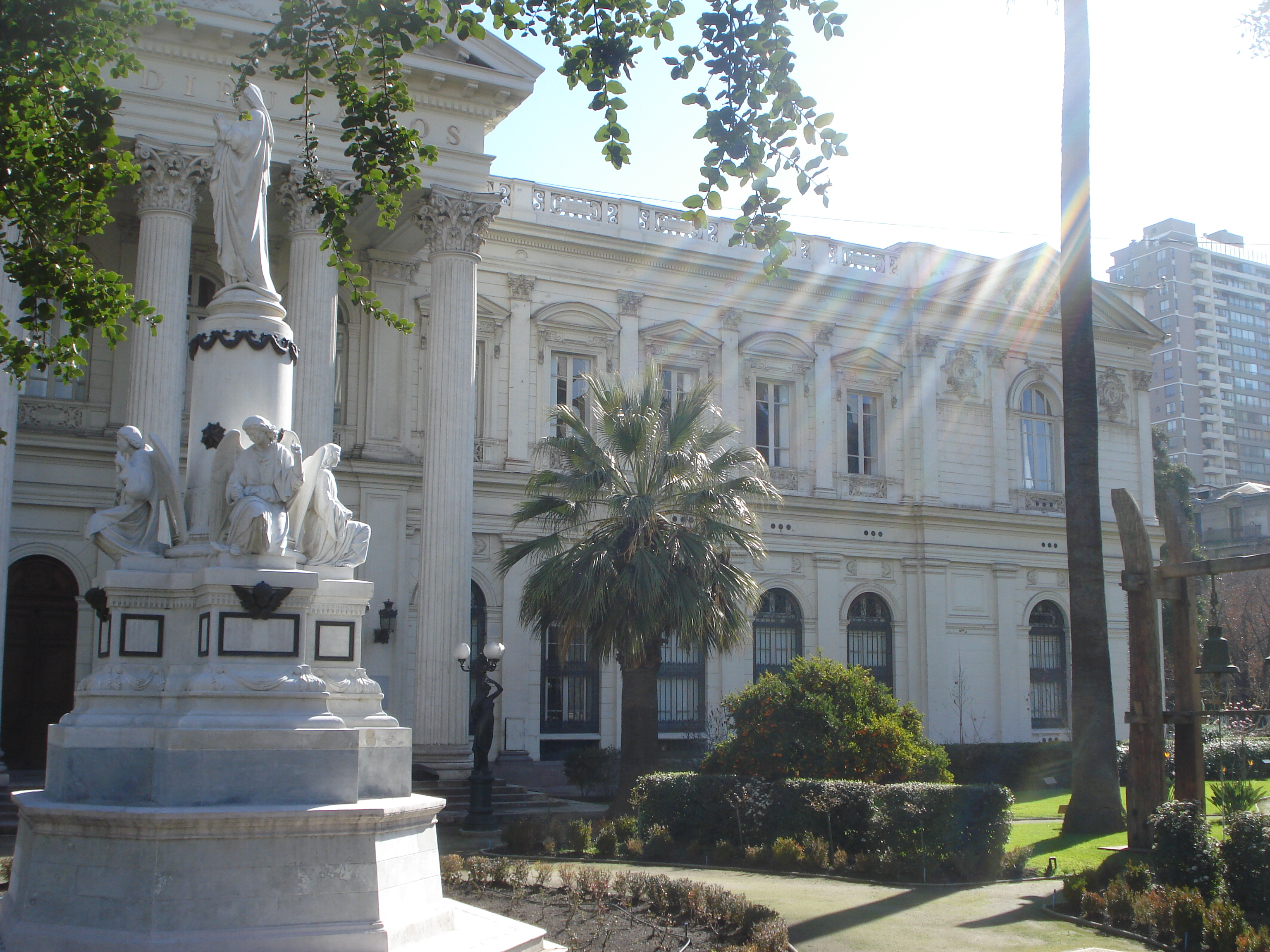 Chile's Congressional building, one of the historical buildings seen on the city tour