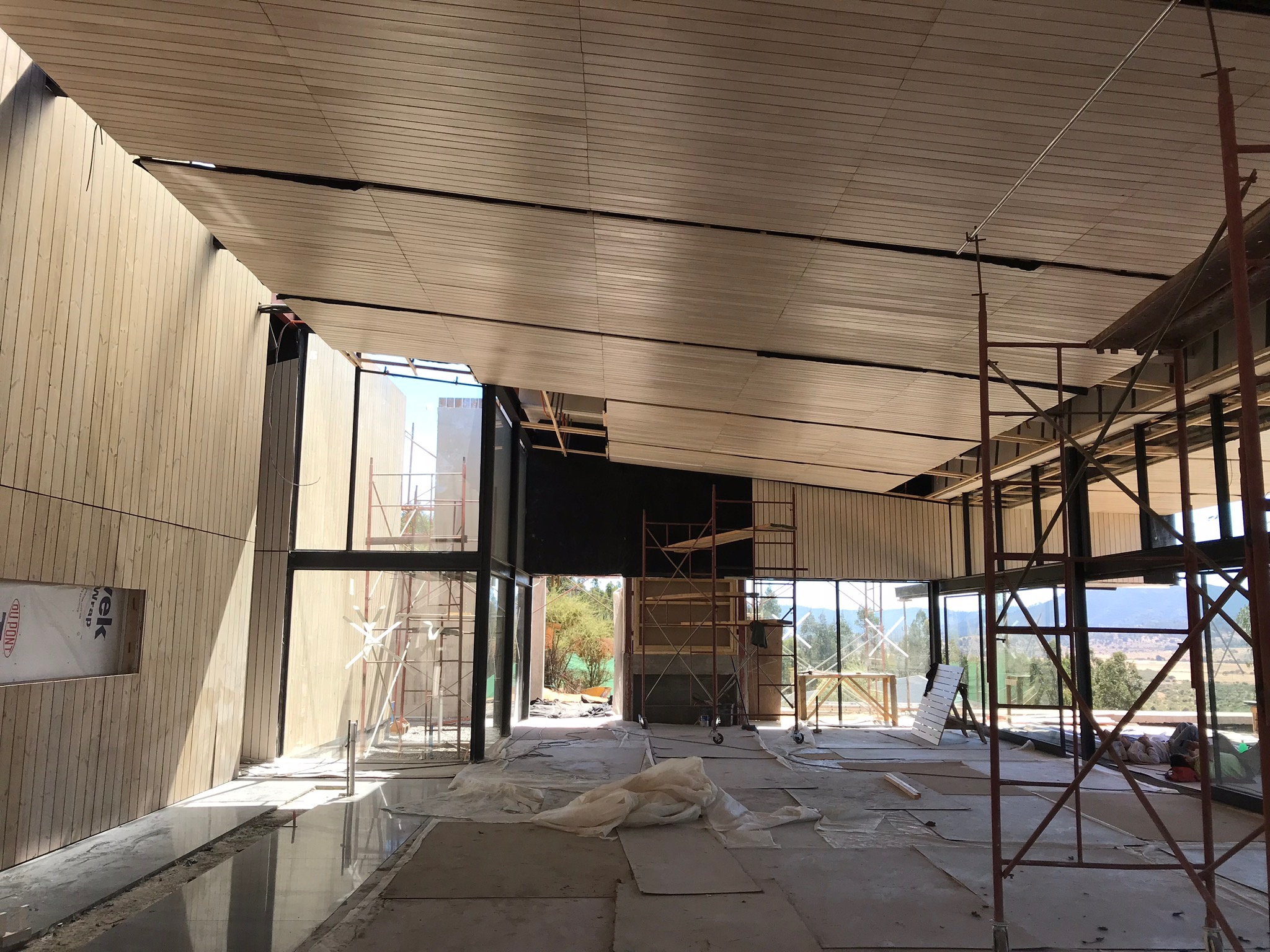 Inside our new tasting room. Sliding glass doors will open to a large, outdoor patio with panoramic views of the Andes.