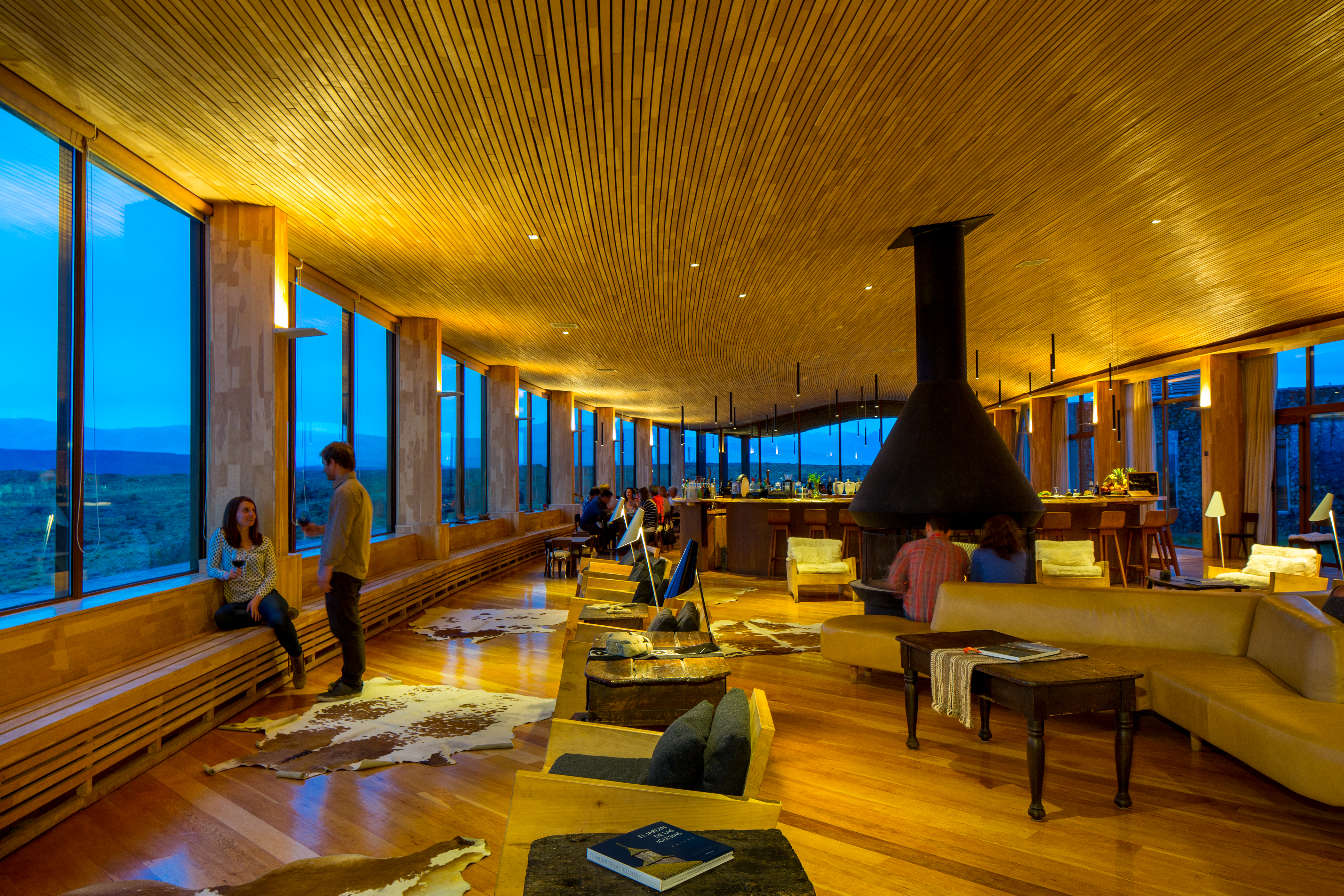 Relaxing at Tierra Patagonia Hotel and Spa. <em>Photo courtesy of Tierra Hotels</em>