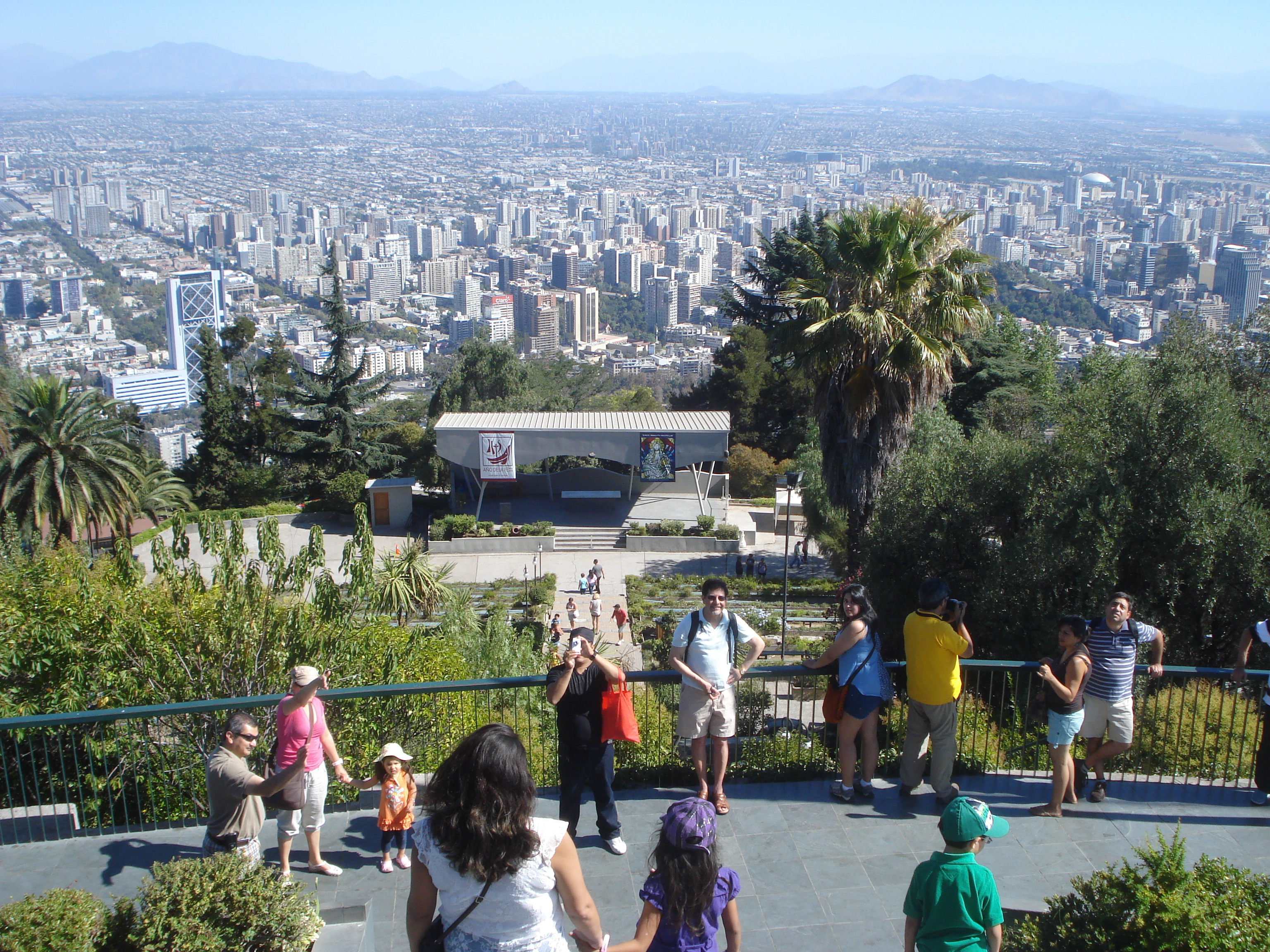 View of Santiago from the Cerro San Cristobal