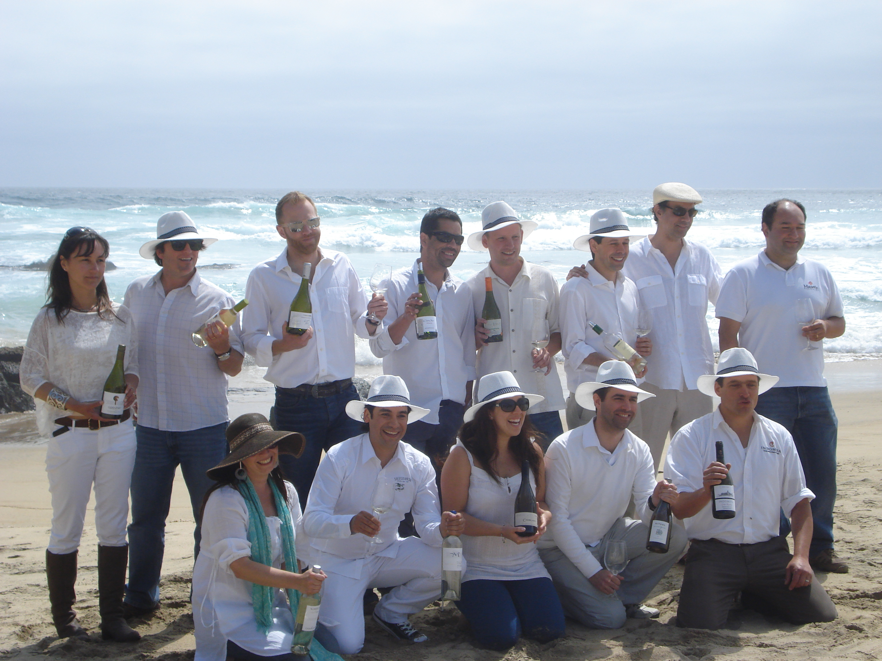 Alejandra, front middle, Kingston Family Vineyard's Assistant Winemaker with other winemakers from Casablanca Valley.